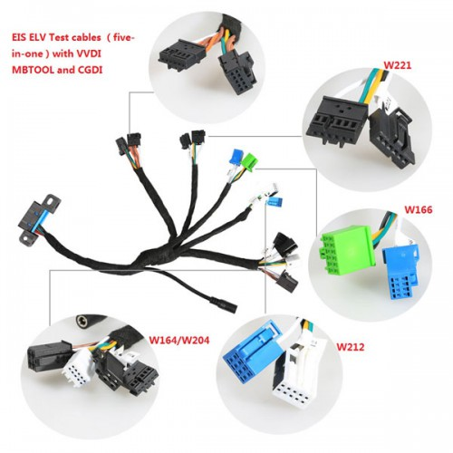 5-in-1 Benz EIS ELV Test cables Works Together with VVDI MB TOOL