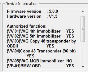 vvdi2 copy 48 transponder authorization list