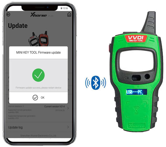 VVDI Mini Key Tool firware update