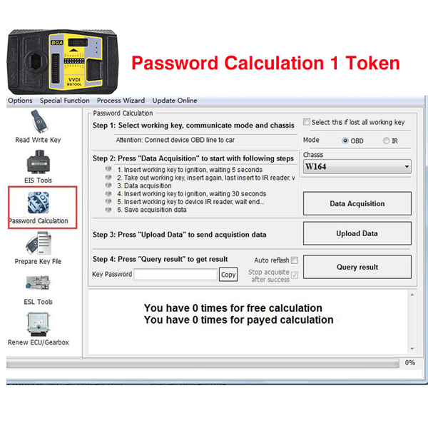Token for VVDI MB BGA Tool Password Calculation