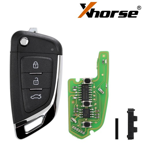 XHORSE XKKF03EN Wire Remote Key Knife Flip 3 Buttons English 5pcs/lot