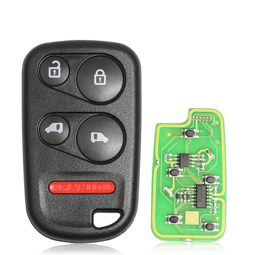 Xhorse XKHO04EN Wire Remote key Honda Separate 4 Buttons with Sliding Door Button English 5pcs/lot