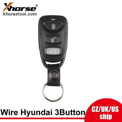 [US Ship] Xhorse XKHY00EN Wire Remote Key Hyundai Separate 3 Buttons English 5pcs/lot