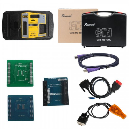 [UK/US Ship] VVDI MB BGA Tool Including BGA Calculator Function With 1 Year Free Tokens+ 8PCS EIS/ELV Test Line