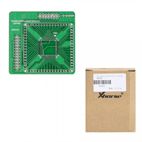 [UK/US Ship] Xhorse XDPG14CH MC68HC05X32(QFP64) Adapter for VVDI Prog Programmer