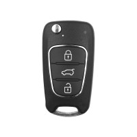 Xhorse XNHY02EN Wireless Remote Key Hyundai Flip 3 Buttons English 5pcs/lot
