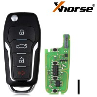 Xhorse XEFO01EN Super Remote Key Ford Flip 4 Buttons Built-in Super Chip English 5pcs/lot