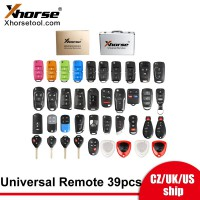 [UK/CZ/US Ship] Xhorse XKRSB1EN Universal Remote Keys Full Packages 39 Pieces Original English Version
