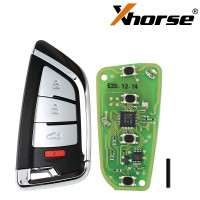 Xhorse XSKF20EN Smart Remote Key Knife Style 4 Buttons English 5pcs/lot