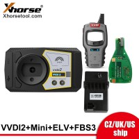 [UK/EU/US Ship] Xhorse VVDI2 Key Full Authorizations+Free Mini key tool+ELV Emulator+Keyless Go FBS3