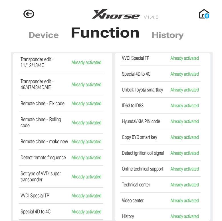 mini keytool functions