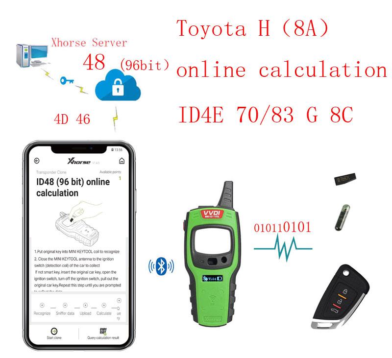 vvdi mini key tool Toyota H transponder