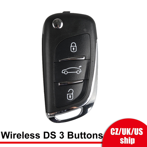 [UK/EU/US Ship] Xhorse XNDS00EN Wireless Remote Key DS Flip 3 Buttons English 5pcs/lot